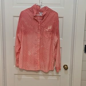 Old Navy Bleach Dyed Button Down